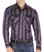 Western Shirt Long Sleeve El General Color Purple - $577,68 MXN