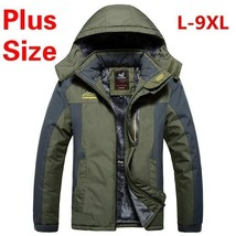 L 9xl Plus Sizemen's Winter Jackets With Hooded Thickening Outdoor Jacket Waterp