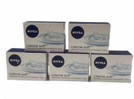Nivea Creme Soft Care Bar Soap ( 3.5 oz each) Made in Germany Lot of 5 - $20.40