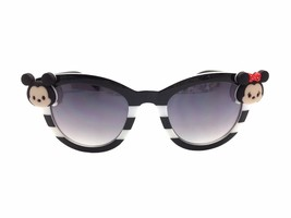 Women's Black Cat Eye Disney Sunglasses with Mickey and Minnie Mouse Tsu... - £18.86 GBP