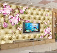 3D Blumen, gelbe Leder 439 Fototapeten Wandbild Fototapete BildTapete Familie DE - $52.21+