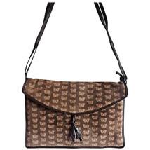 Vintage Bottega Veneta dark brown suede leather square shoulder bag with iconic  - $186.00