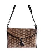 Vintage Bottega Veneta dark brown suede leather square shoulder bag with... - $186.00
