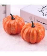 Big Realistic Fall Mini Artificial Pumpkins Foam 8.5cm Halloween Decorative - $4.99