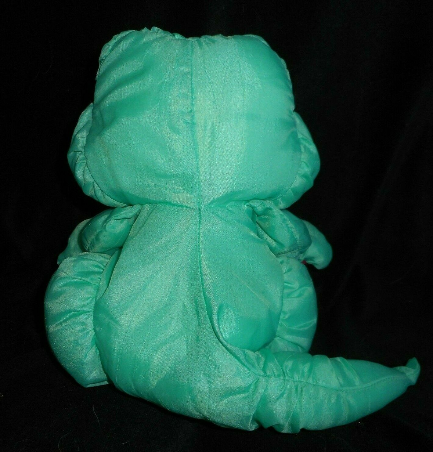 Vintage 1993 Puffalump Fisher Price Verde Caimán Peluche Plush Toy