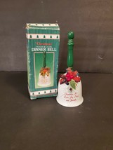 Giftco Inc.  Christmas Porcelain Dinner Bell Holiday Decoration    (m919P) - $15.00