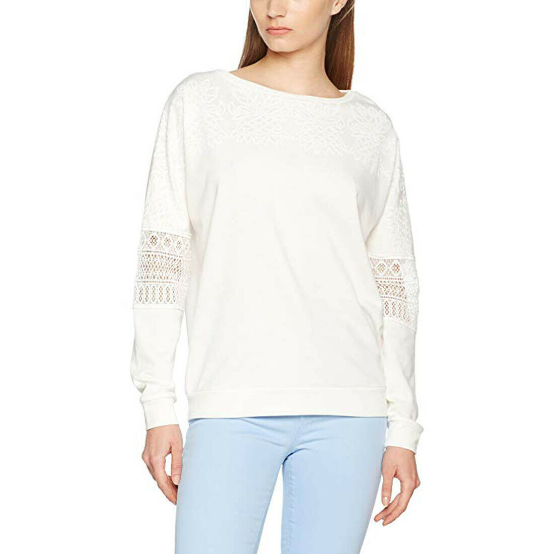 Primary image for Desigual Women's Ola Knitted Long Sleeve Sweat-Shirt, White