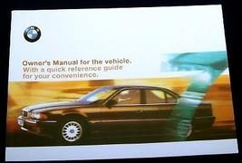 1999 BMW 740i 740iL 750iL  Owners Manual Parts Service new original 7 se... - $74.99