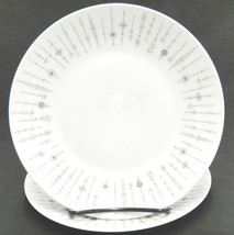 Rosenthal Tundra Grey Lot of 2 Salad Plates Mid Century Lines Dots Continental - $12.86