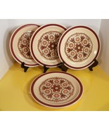 Nikko NEEDLEPOINT Stoneware Dinner Plate (s) LOT OF 4 Made in Japan - $29.65
