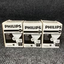 Lot of 3 Philips 12.5w PAR30L FL35 Dimmable LED Cool White Flood Light Bulb - $28.05
