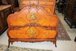 Victorian Antique Rosewood Full Size Bed With Rails & Slats | Bedroom Fu... - $1,610.00