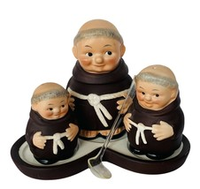 Goebel MI Hummel figurine Germany Friar Monk M42D Condiment set spoon tr... - $247.50