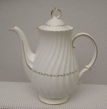 ADRIAN by Royal Doulton China 5 CUP COFFEE / TEA POT H.4816 Gold Laurel ... - $87.29