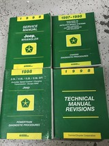 1998 JEEP WRANGLER Service Shop Workshop Repair Manual Set OEM Factory + - $148.45