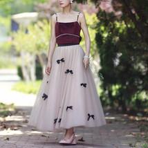 Handmade Champagne Tulle Skirt Outfit High Waisted Tulle Skirt Princess Skirt image 6
