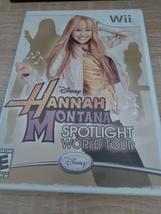 Nintendo Wii  Disney Hannah Montana: World Spotlight Tour - COMPLETE image 1