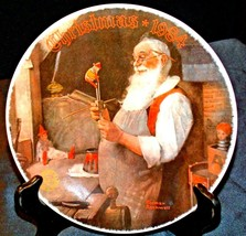 """""""Christmas 1984"""" by Norman Rockwell Plate with Box ( Knowles ) AA20-CP2197 Vinta"""