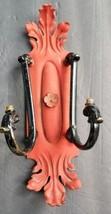 Vintage Floral Old ACANTHUS LEAF Candle WALL SCONCE Coat hook Towel Rack... - $70.29