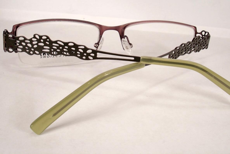 Reflections R 738 Khaki Green Women Eyeglasses Semi Rimless
