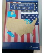 Abeka Grade 3 Our American Heritage Map Study Skills Teacher Key 3rd Grade - $5.67
