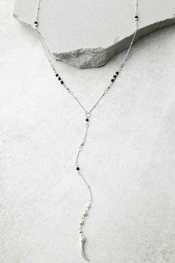 Chic Class Cape Town Black and Silver Drop Necklace - $10.40