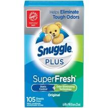 Snuggle Plus Super Fresh Fabric Softener Odor Eliminating 105 Count Drye... - $5.99
