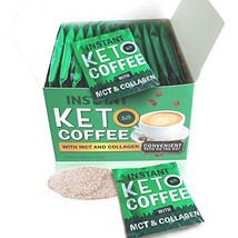 12 Packets Effective Keto Instant Coffee with Pure MCT and Collagen - Lo... - $31.75