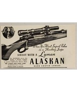 1948 Print Ad Lyman Alaskan Rifle Scopes for Hunting Middlefield,Connect... - $9.28