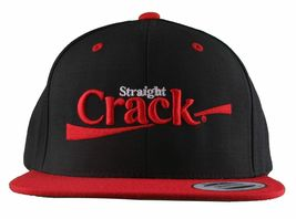 Dissizit Straight Crack Yupoong Wool Blend O/S Cap Black Red Embroidered Hat NWT image 9