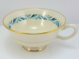 Lenox Blueridge Tea Cup Ivory Blue Floral Scrolls Gold Trim - $11.88