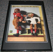 Vintage Michigan State Spartan Gridiron News Framed 10x14 Poster Repro - $46.39