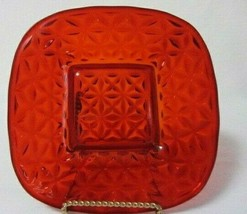VINTAGE IMPERIAL MT VERNON RUBY RED SQUARE SALAD DESSERT LUNCHEON PLATE - $12.99