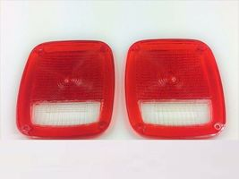 Acrylic Rear Tail Light Lens Set Compatible with Jeep Wrangler CJ 76-86 TJ YJ image 3