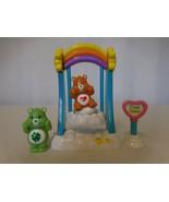 Care Bears Care-a-lot Rainbow Swing Play Set Includes Tenderheart & Good... - $16.85