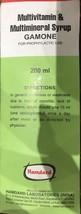 Hamdard Gamone Multivitamin & Multimineral Syrup - 200ml - $14.09