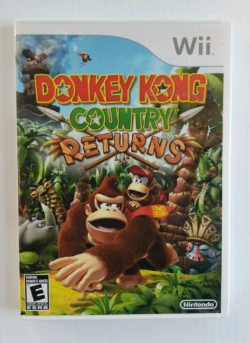 Nintendo Donkey Kong Country Returns Nintendo Wii 2010 Game and Box Only Good
