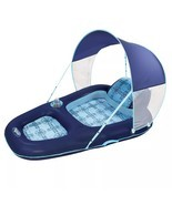 Aqua Leisure Luxury Water Recliner Lounge Pool Float Chair with Canopy - £32.71 GBP