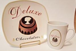"Vintage Sakura Confections Plate & Coffee Cup - ""Deluxe Chocolatier"" - $19.99"