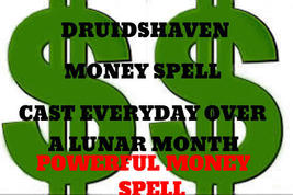 Money Spell cast EVERY day for a lunar cycle using the millionaire ritual, magic - $67.00