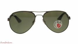 Ray Ban Men's Sunglasses RB3523 029/9A Matte Gunmetal/Polarized Green Lens - $121.25