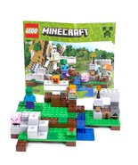 LEGO Minecraft The Iron Golem (21123) Complete - W Brown Sword Subbed For Blue - $19.59
