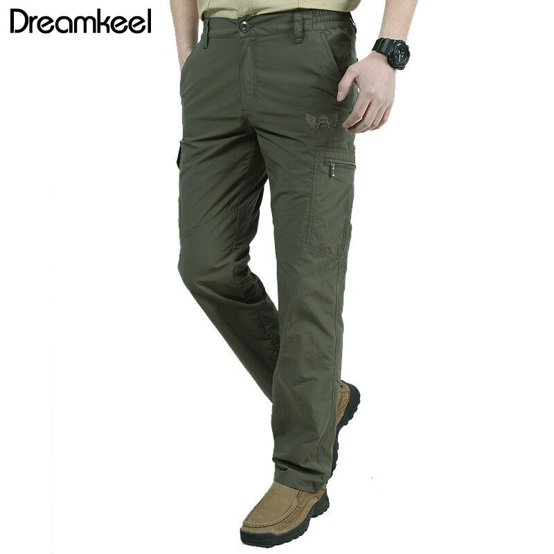 Ual pants men quick dry army military style trousers men s tactical cargo pants male lightweight