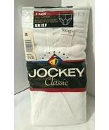 Vtg SEALED 1994 Size 38 Jockey 3 Pack Classic Men's Brief Inverted Y Fro... - $39.10