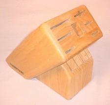 FARBERWARE HARDWOOD KNIFE BLOCK - $26.30 CAD