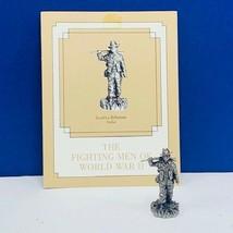Franklin mint fighting men World War II WWII pewter figurine Gurkha Indi... - $28.98