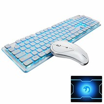 FELICON Wireless Keyboard and Mouse Combo Water Resistance 2.4G Green/Bl... - $944,43 MXN