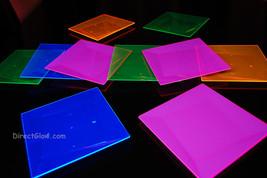 Blacklight Reactive 8 Inch Square Twist Plastic Party Plates- 10 ct. - $13.95