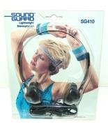 Audio-Technica SG410 Sound Guard Headphones Rare Vintage Lightweight Ste... - $48.33