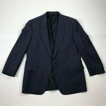Hart Schaffner & Marx Ariel Worsteds Mens Vented Navy Blue Sport Coat Sz... - $54.45